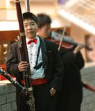 Bassoon boy in concert Royalty Free Stock Photography