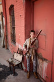 Bassoon Musician In Indian Attire Stock Images