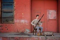 Bassoon-Musiker Stockfotografie