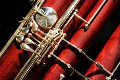 Bassoon woodwind instrument Royalty Free Stock Image