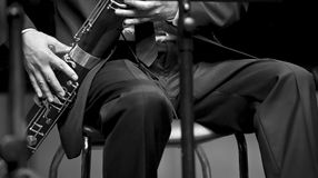 Bassoonist on concert Stock Photography