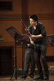 Bassoonist on wind music chamber music concert Stock Photo