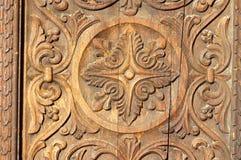 Bassorilievo in legno Fotografia Stock
