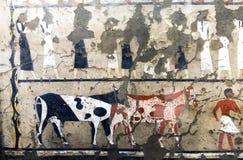 Bassorilievo in museo egiziano immagine stock libera da diritti