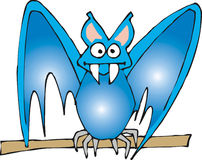 Bastão azul Ilustração do Vetor