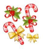 Bastão de doces do Natal ilustração do vetor
