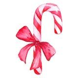Bastão de doces do Natal com curva Imagem de Stock Royalty Free