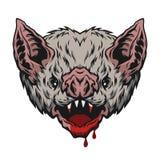 Bastão de vampiro principal ilustração stock