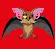 Bastão do vôo o vampiro. ilustração do vetor