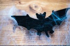 Bastão dos símbolos de Dia das Bruxas na Web de aranhas Fotografia de Stock