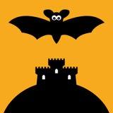 Bastão e castelo dos desenhos animados Foto de Stock