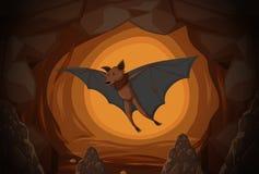 Bastão em uma caverna ilustração do vetor