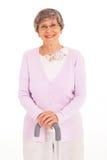 Bastão idoso da senhora Imagens de Stock Royalty Free