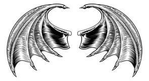 Bastão ou Dragon Wings ilustração stock