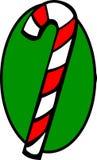 Bastón de caramelo de la Navidad ilustración del vector