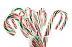 Bastón de caramelo de la Navidad Fotografía de archivo libre de regalías