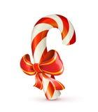 Bastón de caramelo de la Navidad Foto de archivo