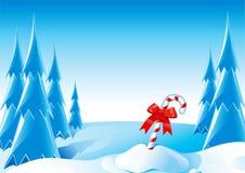 Bastón de caramelo de la Navidad Foto de archivo libre de regalías