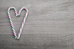 Bastón de caramelo de la Navidad Fotos de archivo