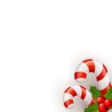 Bastón de caramelo de la Navidad Imagen de archivo