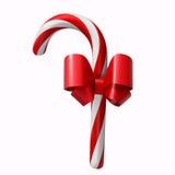 Bastón de caramelo de la Navidad aislado Fotos de archivo libres de regalías
