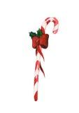 Bastón de caramelo de la Navidad de la acuarela Imagen de archivo libre de regalías