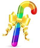 Bastón de caramelo del arco iris Imagen de archivo