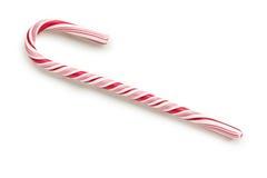 Bastón de caramelo rayado Imágenes de archivo libres de regalías