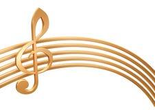 bastón de oro 3d Imagen de archivo