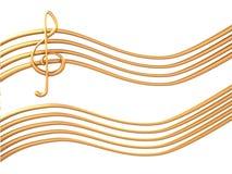bastón del oro 3d Imagen de archivo libre de regalías