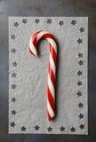 Bastón y estrellas de caramelo Imágenes de archivo libres de regalías