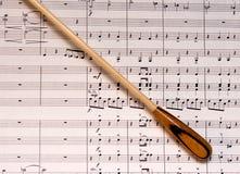 Bastón y música Fotografía de archivo