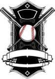 Bastões de beisebol, basebol, no gráfico ornamentado Imagem de Stock