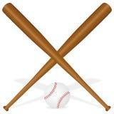 Bastões de beisebol e esfera Foto de Stock