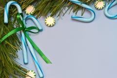 Bastões de doces azuis Imagem de Stock Royalty Free