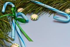 Bastões de doces azuis Foto de Stock