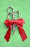 Bastões de doces do feriado do Natal fotos de stock
