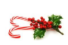 Bastões de doces do Natal Foto de Stock Royalty Free