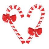 Bastões de doces do Natal Fotografia de Stock Royalty Free