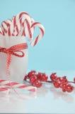 Bastões de doces do partido da sobremesa do feriado do Natal Imagem de Stock