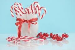 Bastões de doces do partido da sobremesa do feriado do Natal Foto de Stock