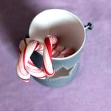 Bastões de doces doces do Natal Imagens de Stock Royalty Free