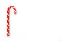 Bastões de doces em um fundo branco Foto de Stock Royalty Free