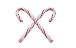 Bastões de doces para o Natal Fotos de Stock
