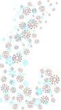 Bastões do floco de neve e de doces Fotos de Stock Royalty Free
