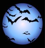 Bastões e uma lua cheia de Halloween Fotografia de Stock
