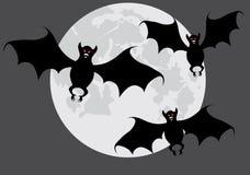 Bastões em uma lua. ilustração stock