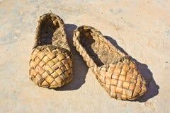 Bast-Schuhe Stockfotografie