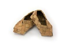Bast shoe Royalty Free Stock Photo
