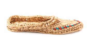 Bast shoe isolated Royalty Free Stock Images